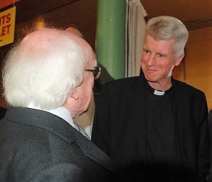 (51) President with Fr. Dave