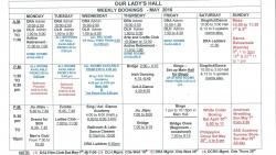 Weekly Bookings May